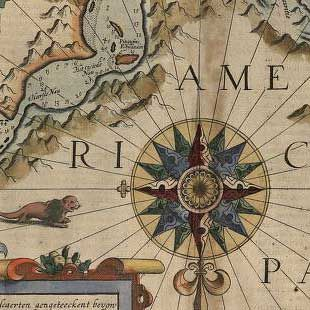 """Explore the map collection titled """"Discovery and Exploration"""" from the Library of Congress! Many of these maps reflect the European Age of Discoveries, dating from the late 15th century to the 17th century when Europeans were concerned primarily with determining the outline of the continents as they explored and mapped the coastal areas and the major waterways."""