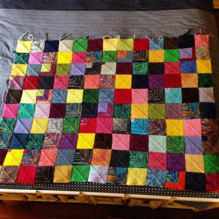 Attractive Patchwork Quilt Knitting Pattern Ideas - Blanket Knitting ...