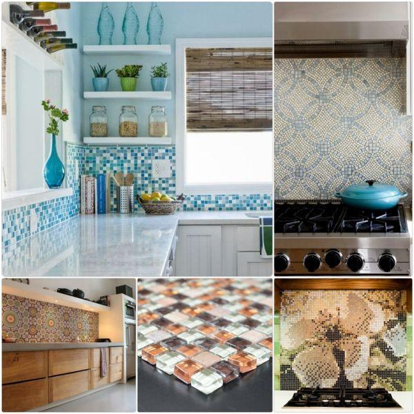 Fliesenspiegel Küche Küchenrückwand Ideen Mosaikfliesen Küchenspiegel