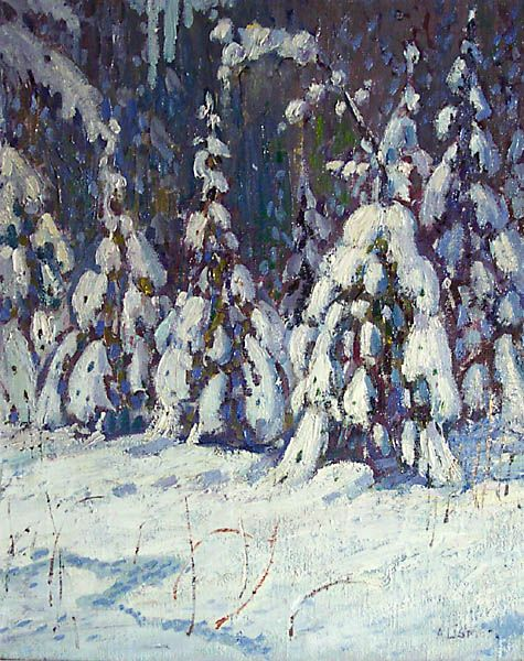 Arthur Lismer, 'Forest in Winter' at Mayberry Fine Art 24 x 20.5 (1918)
