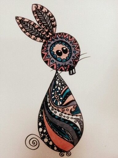#zentangle felt tip pen coloring