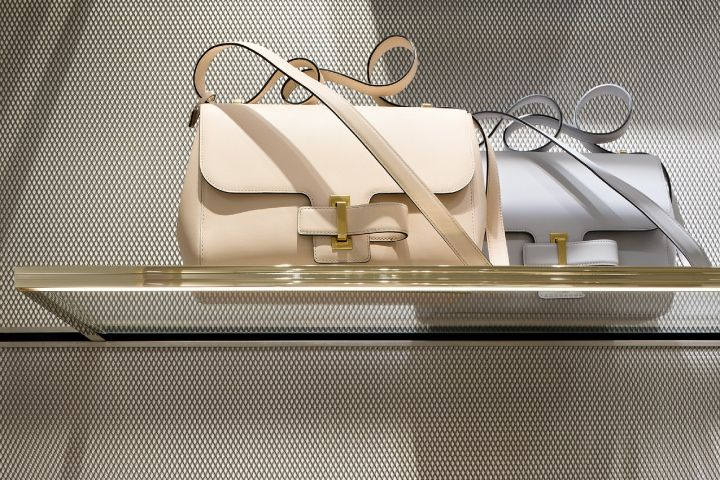 The Simplissime bags inside the Delvaux boutique at the Galerie de la Reine in Brussels
