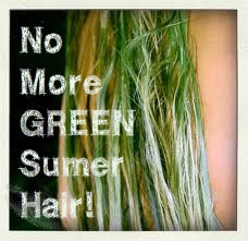No More Green Summer Hair. How to Prevent your hair from chlorine damage.