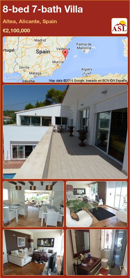 8-bed 7-bath Villa in Altea, Alicante, Spain ►€2,100,000 #PropertyForSaleInSpain