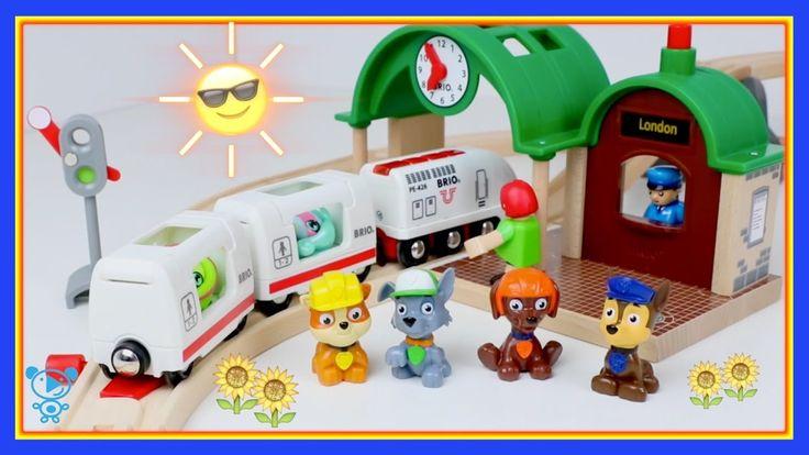 Trains for children video Playing with brio trains & Thomas, Paw Patrol,...