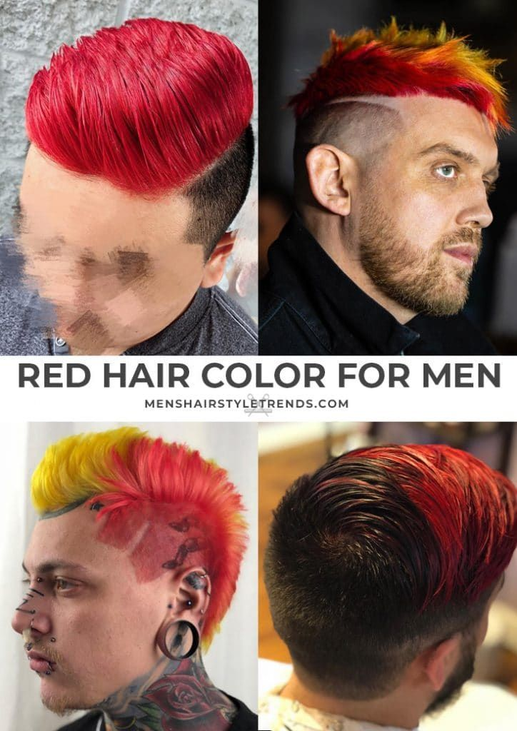 Hair Color Options For Men In 2020 Men Hair Color Red Hair Men Dyed Hair Men