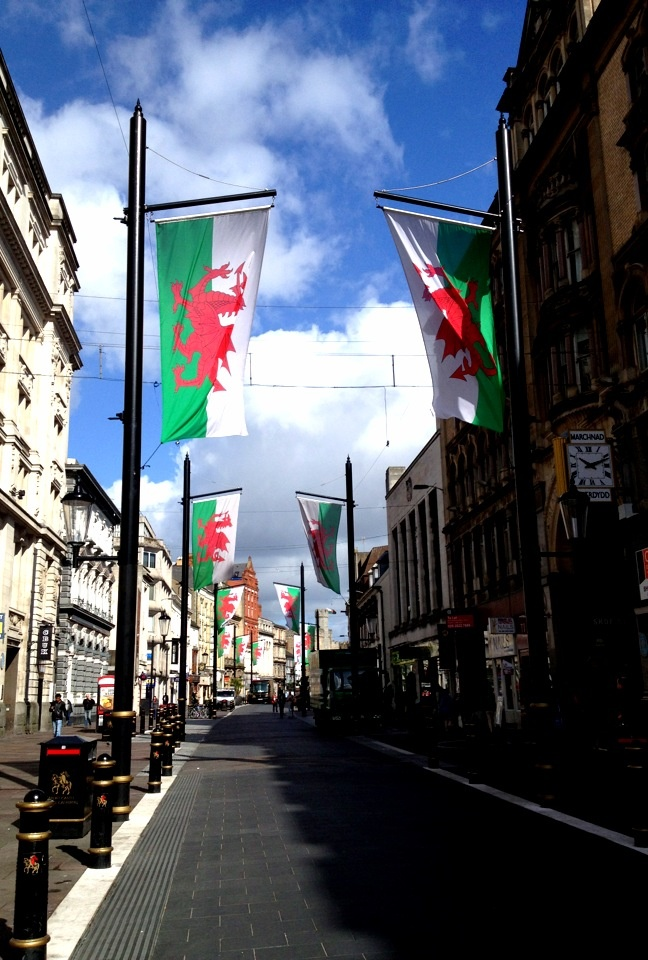 Cardiff city centre, Wales