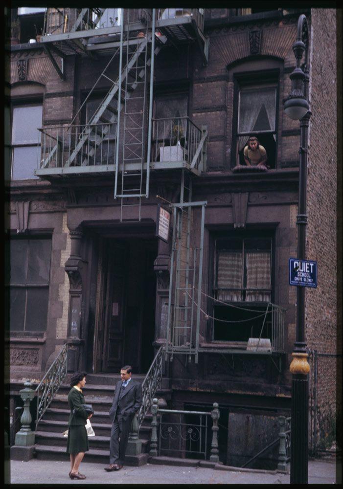 Charles W. Cushman, Lower East Side, New York City, 1942.