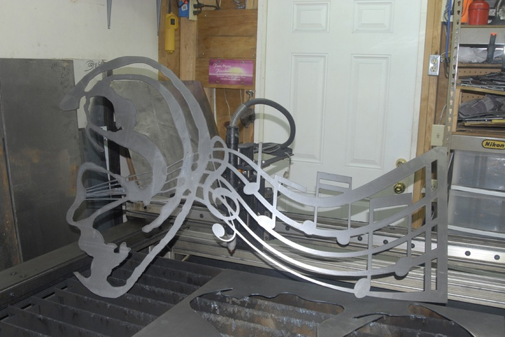 Recently cut out sculpture