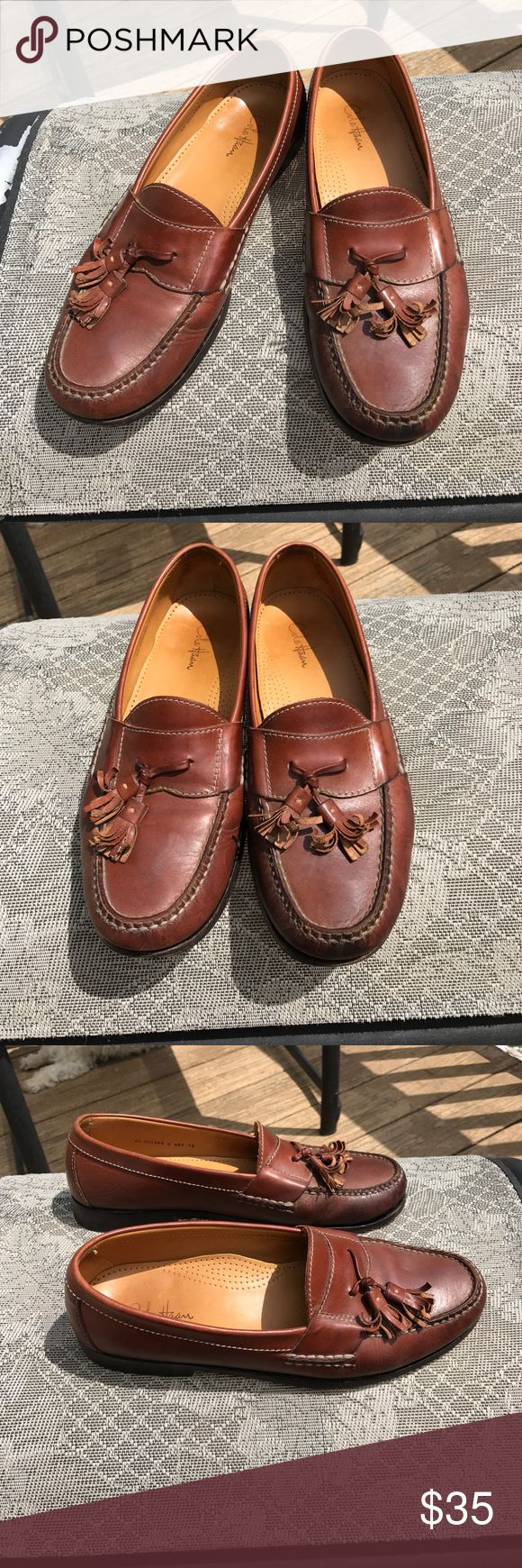 Cole Haan Brown Pinch Tassel 9D Mens SALE Cole Haan Brown Pinch Tassel 9D Mens . These are worn. These have been worn & Loved. Still have life in them. Priced accordingly. See photos. 🚫trades. Please ask all questions prior to buying Cole Haan Shoes Loafers & Slip-Ons
