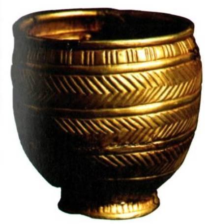 Ранняя стадия среднего бронзового века, 21 -го века до нашей эры, Карашамб, Большой Курган, Электрум, 10,1 х9, 7х5, 5 см, вес: 149 г,
