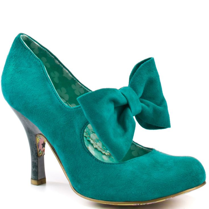 We were selling these in red for a while ... I had no idea it came in jade. Oh, Irregular Choice.