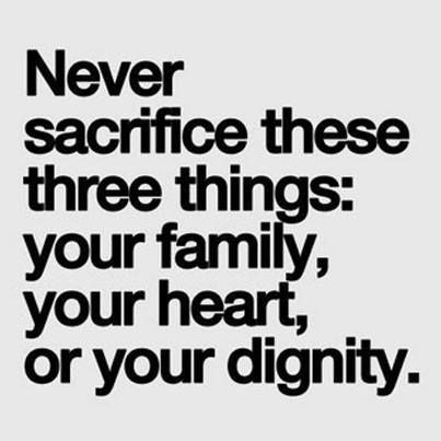 I add one more thing to the list...never ever sacrifice your belief/spirituality