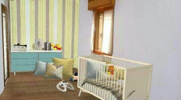 Ecco come un ambiente qualunque  può diventare una nursery #remaxcentral #render #realestate