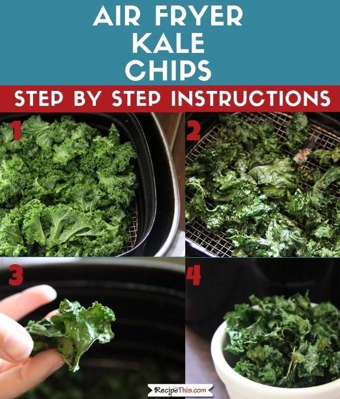 Air Fryer Kale Chips Recipe Kale Chips Kale Chip Recipes Air Fryer