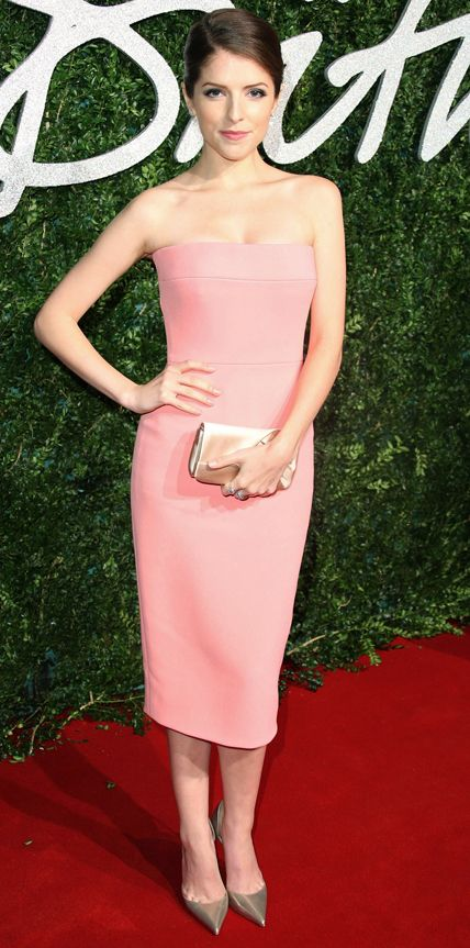 British Fashion Awards -  Anna Kendrick in Victoria Beckham with Christian Louboutin shoes and a Louboutin clutch and De Beers diamonds.