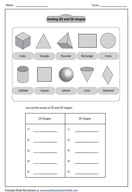 sorting out shapes math 3d shapes worksheets shapes worksheets shapes worksheet kindergarten. Black Bedroom Furniture Sets. Home Design Ideas
