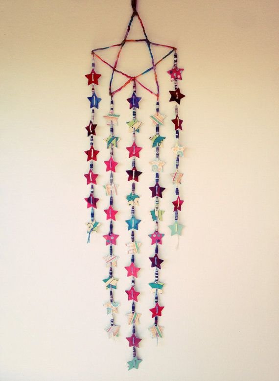 Bohemian Boho Gypsy Hippie Mobile Hanging Decor Stars
