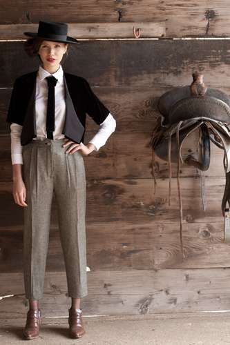 Androgynous Derby Fashion - The First Rite Fall 2012 Collection is Inspired by Gentlemen's Sports (GALLERY)