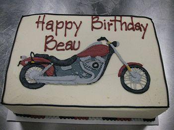 motorcycle buttercream cake