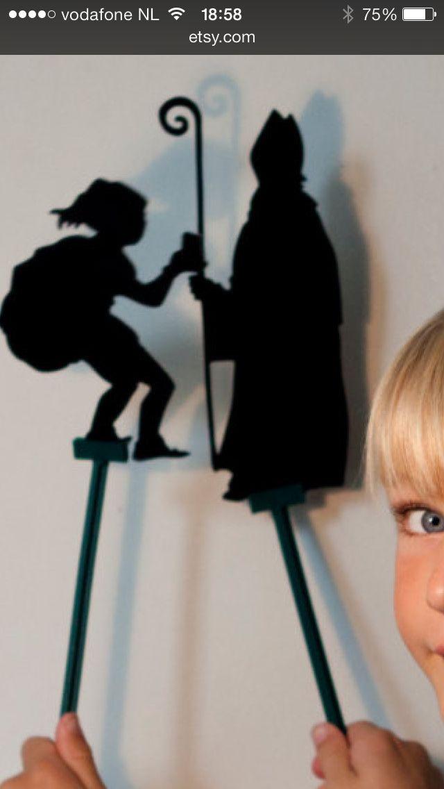 Schimmenspel Sinterklaas http://www.etsy.com/nl/listing/164386537/pop-up-het-schaduwspel-van-sinterklaas