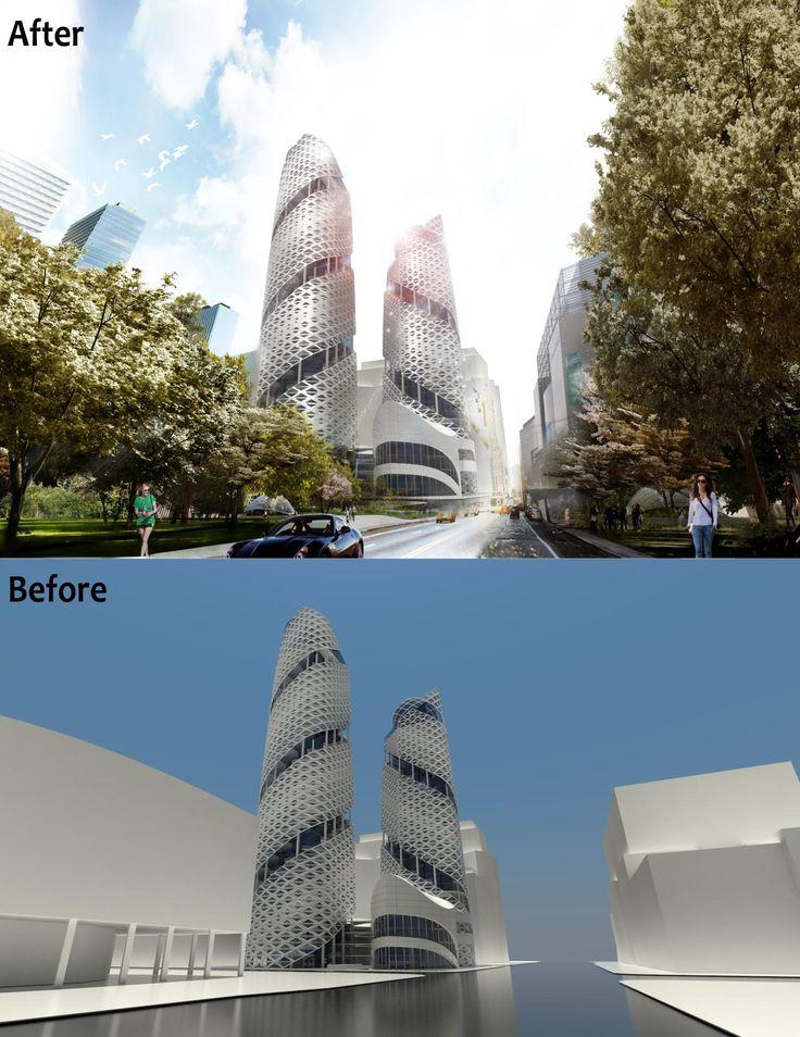 3학년1학기오피스 office rendering  before , after