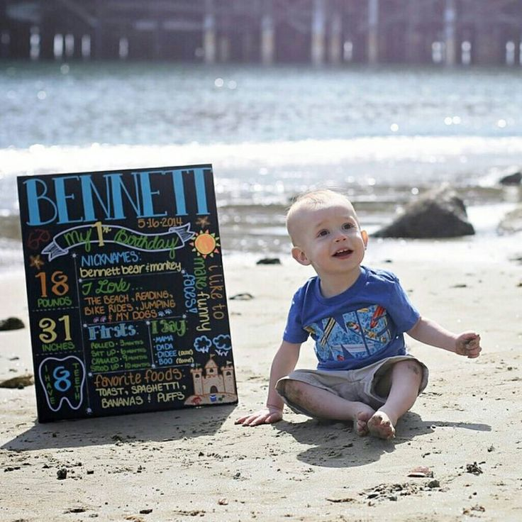 Beach Custom First Birthday Canvas by EMMCustomCreations on Etsy https://www.etsy.com/listing/232349280/beach-custom-first-birthday-canvas