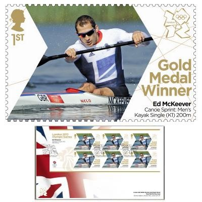 Large image of the Team GB Gold Medal Winner First Day Cover - Ed McKeever