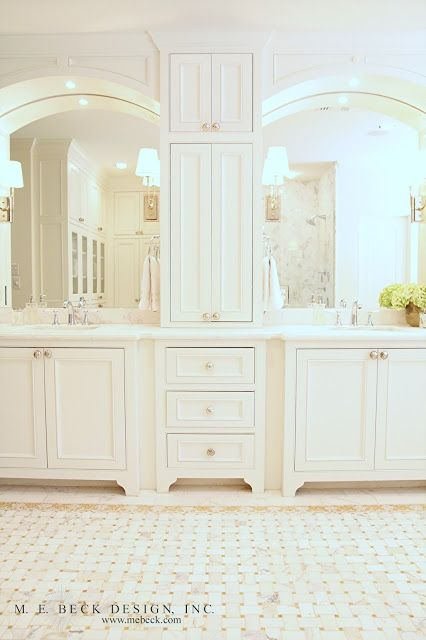 Live Beautifully: 1920's Renovation | The Master Bath; mine now is close... but not quite this nice....