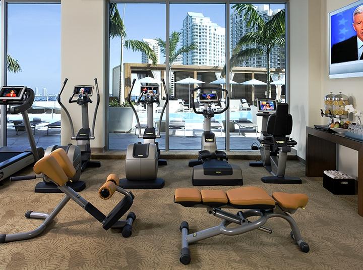 Fitness center photo kimpton hotels epic hotel miami