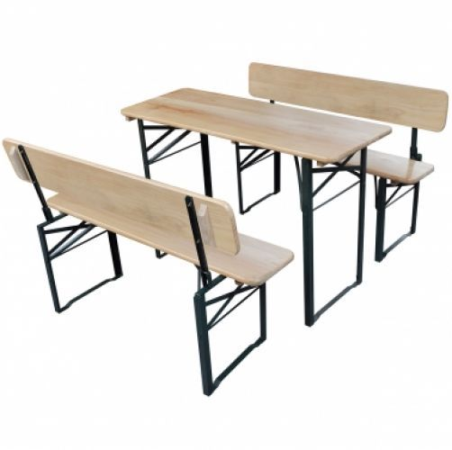 Foldable Beer Table and 2 Benches with Backrests   Take  this Great Opportunity. Check LUXURY HOME BRANDS and buy this bargainNow!