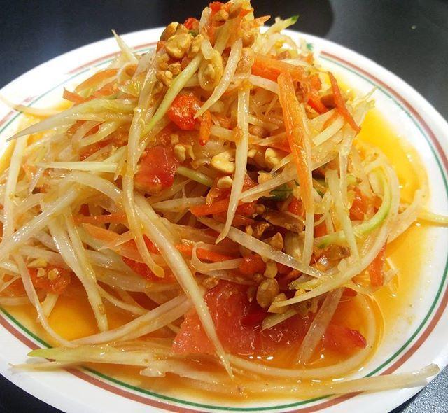 Realising a #tasty #papaya #salad in #bangkok - - - #food #experience #letseat #reminds me of #korean #tv #series #yummy #filling #happy