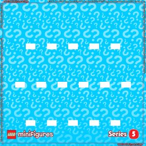 LEGO Minifigures Series 5 Background for Ikea Ribba Frame