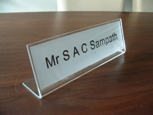 Perspex Nameplates For Desks Sign Name Pinterest