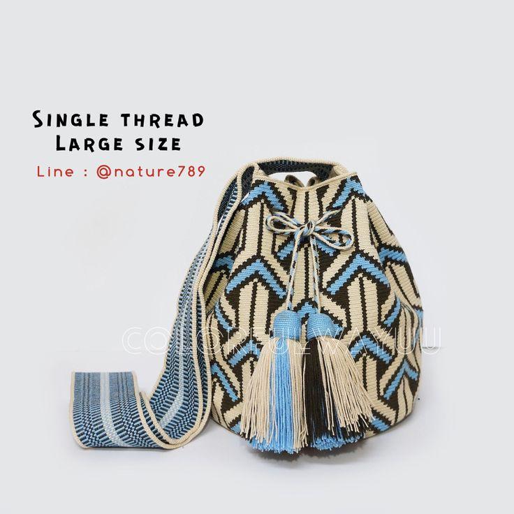 21 отметок «Нравится», 1 комментариев — Wayuu bag from colombia (@colorfulwayuu) в Instagram: «Sold งานละเอียดที่สุดของงานถักวายู ต้องรุ่นนี้ลย Single Thread !!!!…»