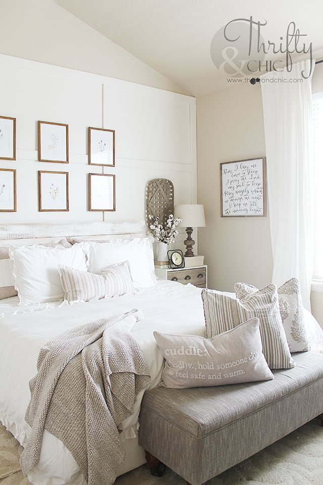 Stupendous White And Neutral Bedroom Decor And Decorating Ideas White Interior Design Ideas Clesiryabchikinfo