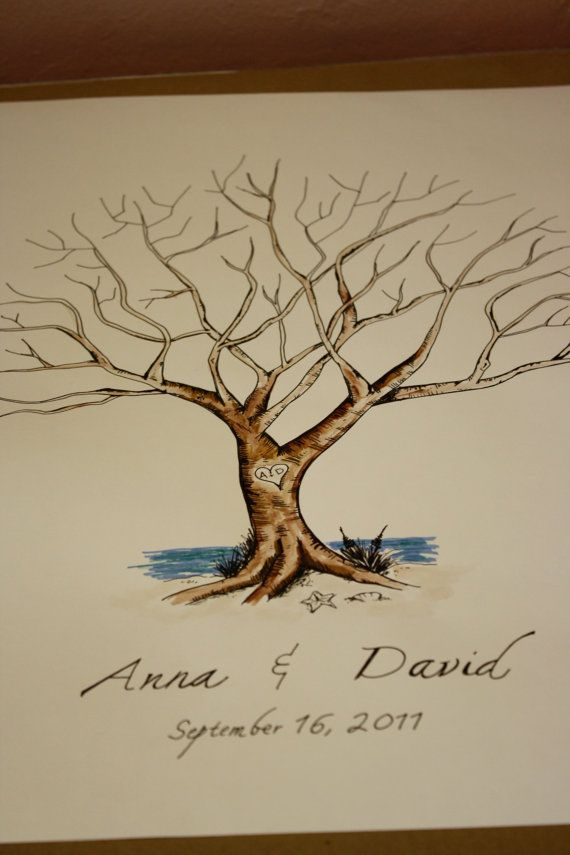 custom bird order for deanna thumbprint tree guestbook 100 guests tree guest books wedding