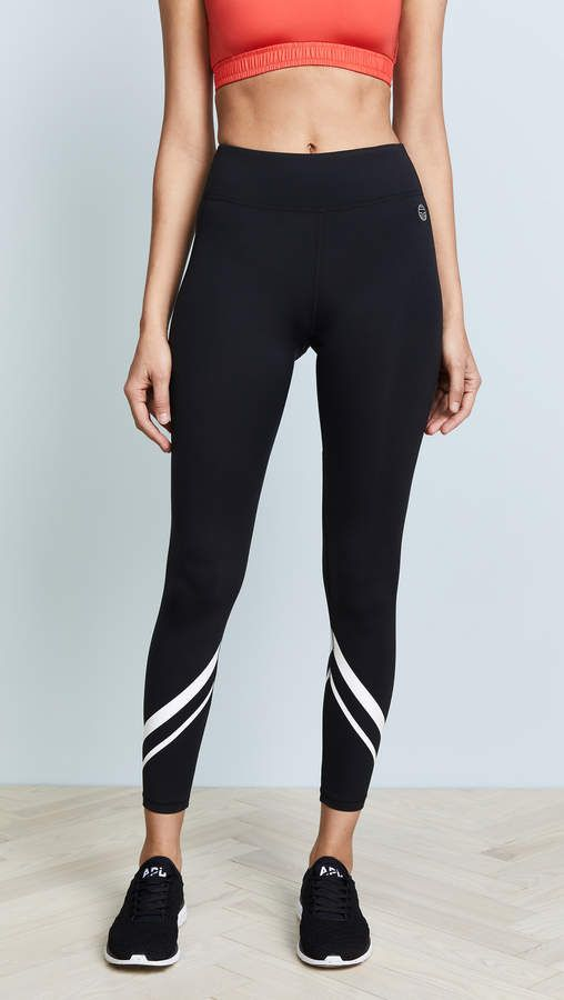 29585aa31bcd79 Tory Sport Chevron Full Length Leggings in 2019 | Style dairy ...