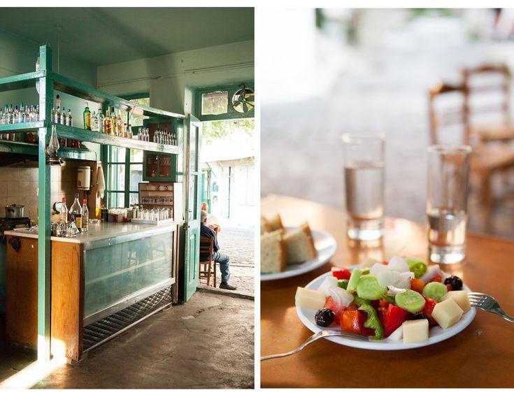 Greek taverna and salad by Carla Coulson