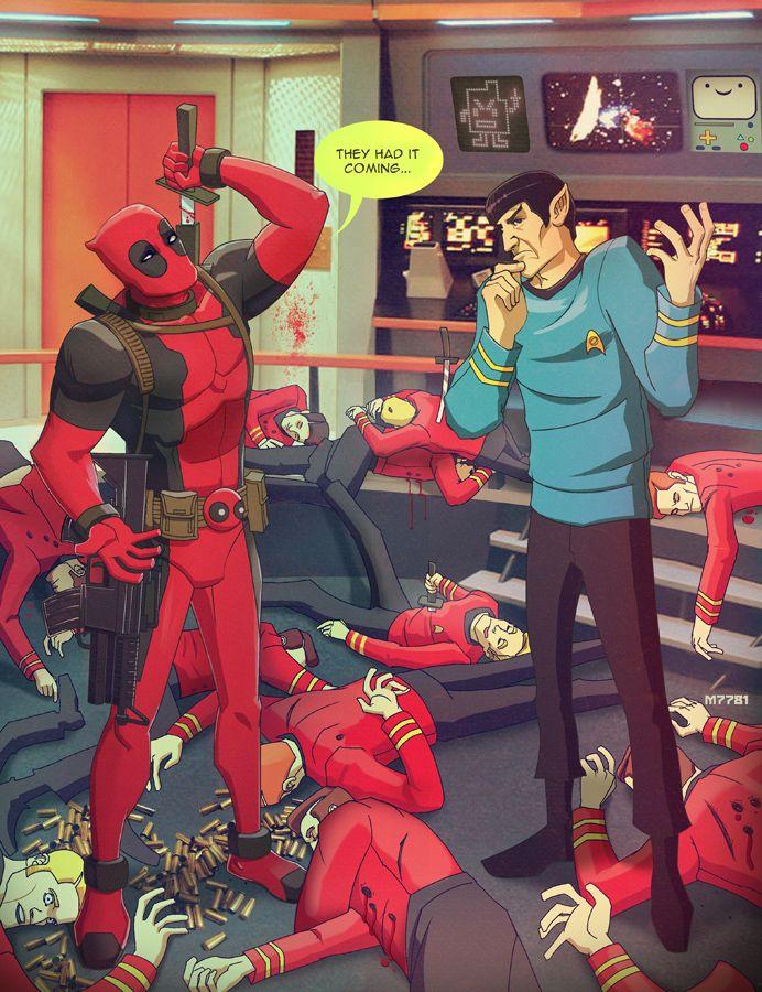 Deadpool Invades the STAR TREK Universe - Red ShirtsBeware! - News - GeekTyrant