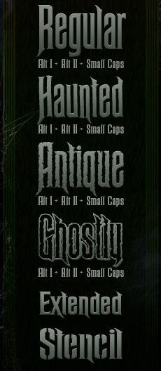 Haunted Mansion Font - http://davidocchino.com/portfolio/typography/mansion.html