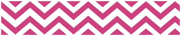 Dress up your daughter's walls with these Hot Pink and White #Chevron Zig Zag Modern Wall Border by Sweet Jojo Designs