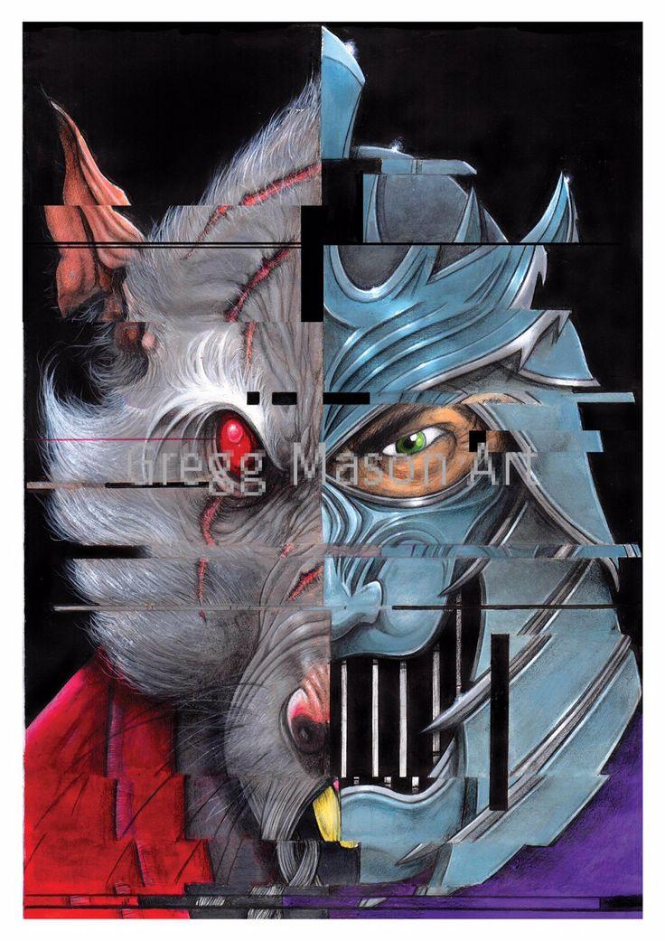 Shredder/Splinter (TMNT) Poster Artwork A4 Print - Signed by GreggMasonArt on…