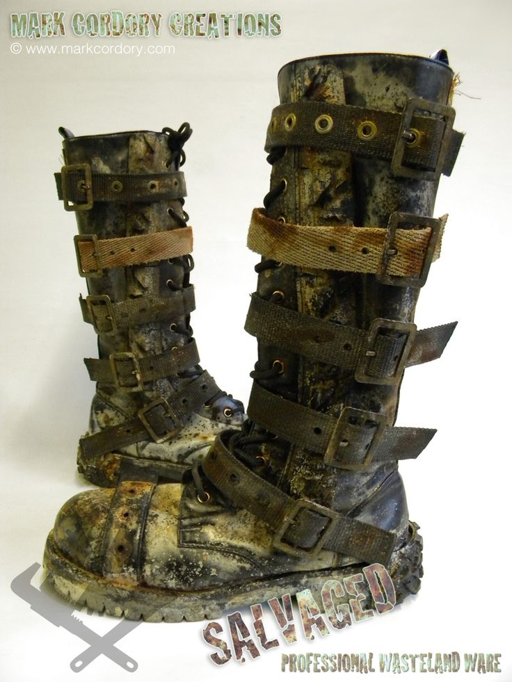 Post Apocalyptic costume - boots. SALVAGED Ware by Mark Cordory Creations. Commission enquiries always welcome @ www.markcordory.com