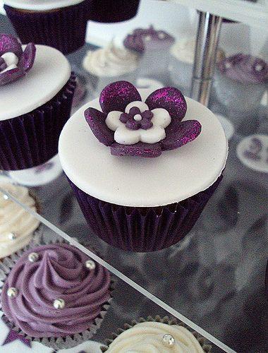 Purple Blossom Cupcake