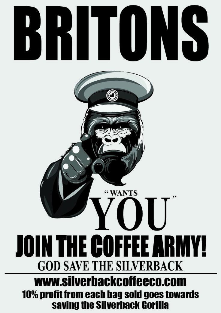#coffeearmy #silverbackcoffeeco Join our coffee army and help save the Silverback #coffee #coffeelover