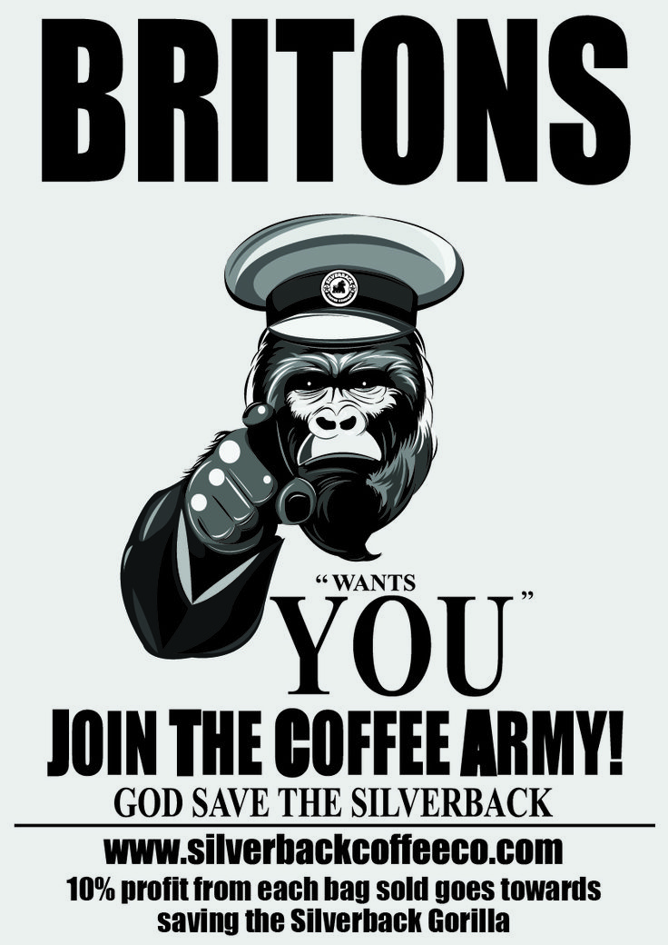 #coffeearmy #silverbackcoffeeco Join our coffee army and help save the Silverback #coffee #coffeelover