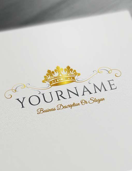make logo online king crown logo template heraldic free logo maker