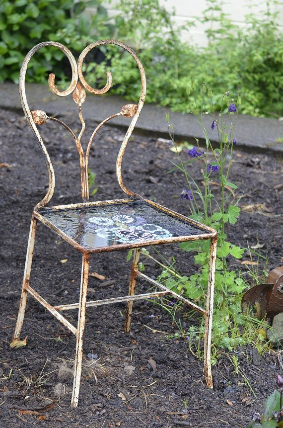 Iron Chairs For Sale Part - 33: Whoot By Kory Dollar Of Marvelous Mosaic For Sale At Artistic Portland .  Wrought Iron ChairsMarrakeshDinner ...