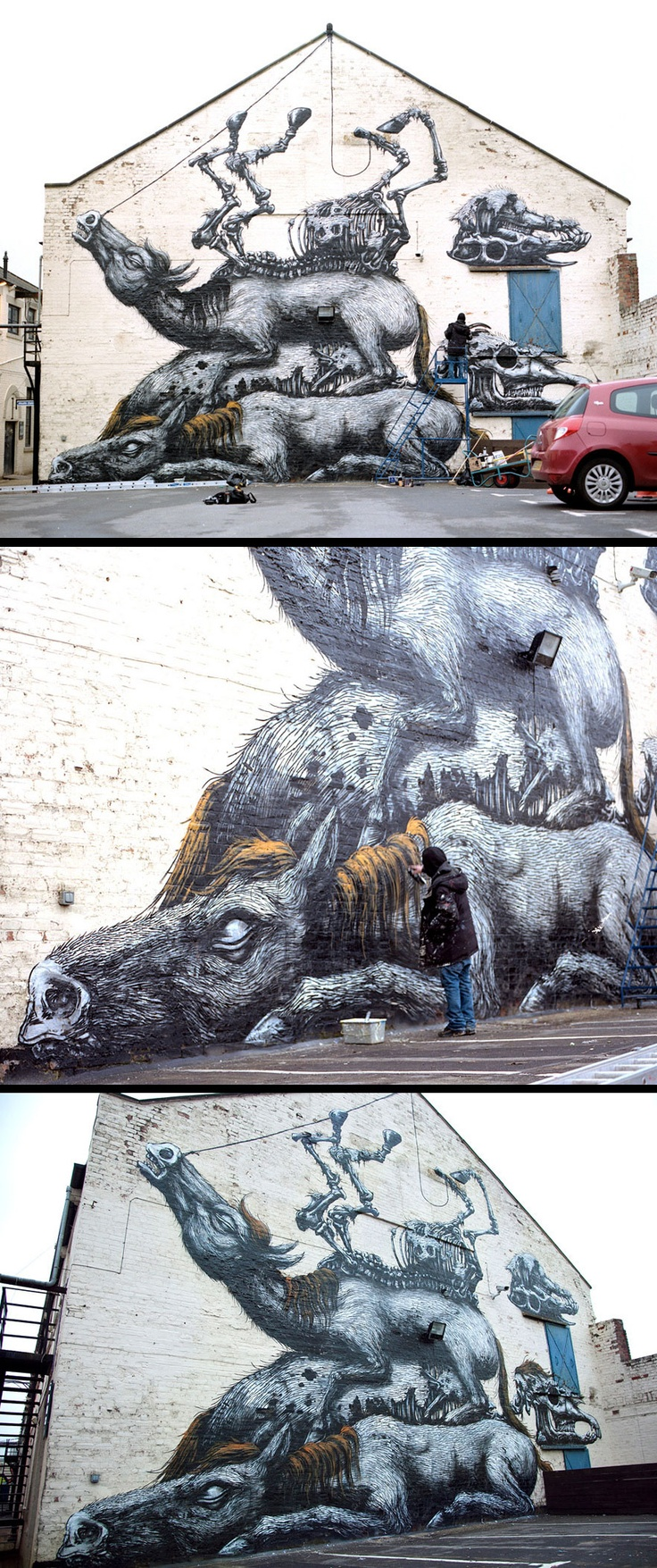 Wow. Love the detail here.     Roa in Newcastle